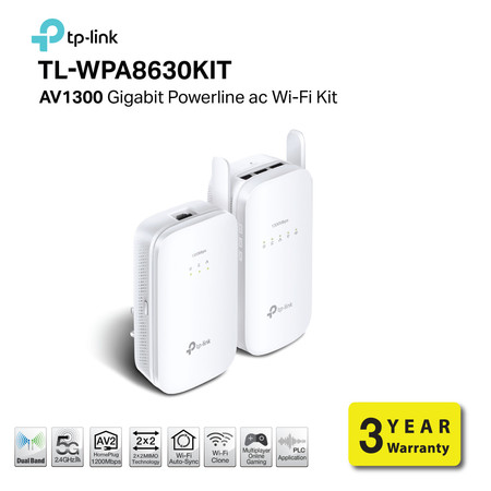 TP-LINK TL-WPA8630KIT POWER LINE AV1200 Gigabit ac Wi-Fi Kit by Speed Computer