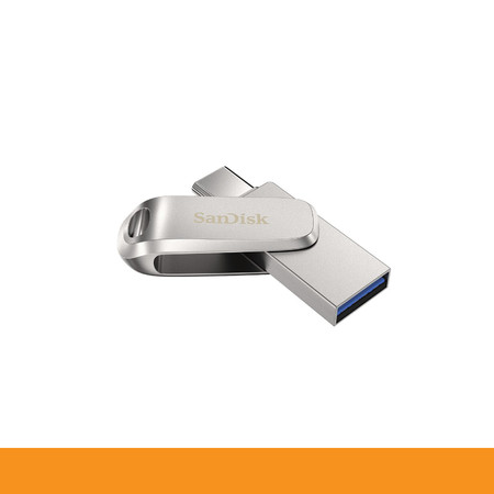 SANDISK ULTRA DUAL DRIVE LUXE USB TYPE-CTM FLASH DRIVE, SDDDC4 128GB, USB TYPE C, METAL, USB3.1/TYPE C REVERSIBLE CONNECTOR, SWIVEL DESIGN, TYPE-C ENABLED DEVICES, 5Y by Speed Computer