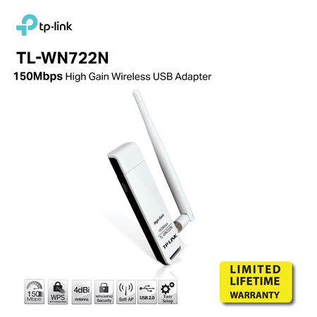 TP-LINK TL-WN722N 150Mbps High Gain Wireless N USB Adapter by Speed Computer