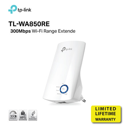 TP-LINK TL-WA850RE 300Mbps Wireless N Wall Plugged Range Extender by Speed Computer