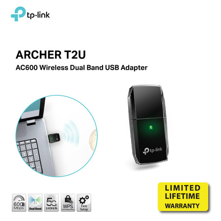 TP-LINK ARCHER T2U NANO WIRELESS USB ADAPTER AC600 DUAL BAND HIGH GAIN by Speed Computer