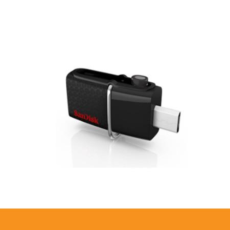 SANDISK SDDD2_128G_GAM46 FLASHDRIVE OTG 128GB USB3.0 BLACK DUAL COM & ANDROID OTG ULTRA USB3.0 SPEED UP TO 130MB by Speed Computer