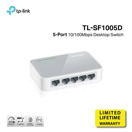 TP-LINK TL-SF1005D 5-port 10/100M mini Desktop Switch by Speed Computer