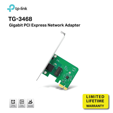 TP-LINK TG-3468 Lan card Gigabit PCI Express network adapter by Speed Computer