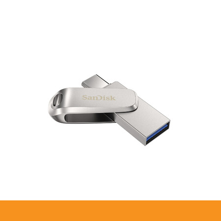 SANDISK ULTRA DUAL DRIVE LUXE USB TYPE-CTM FLASH DRIVE, SDDDC4 32GB, USB TYPE C, METAL, USB3.1/TYPE C REVERSIBLE CONNECTOR, SWIVEL DESIGN, TYPE-C ENABLED DEVICES, 5Y by Speed Computer