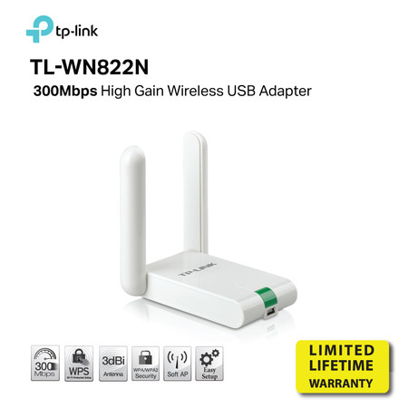 TP-LINK TL-WN822N High Gain Wireless N 300Mbps USB Adapter by Speed Computer