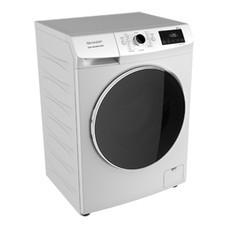 SHARP เครื่องซักผ้าฝาหน้า ES-FWX812W 8 KG.+ขาตั้ง มีระบบกำจัด/ป้องกันแบคทีเรียและเชื้อรา ปั่นหมาด1000รอบ/นาที  ESFWX812W