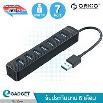 ORICO HUB TWU3-7A USB 3.0 HUB Black ( พอร์ต 7 ช่อง ) ตัวต่อพ่วง ยูเอส บีฮับ สีดำ