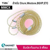 (MMCX) สายอัพเกรด ถัก8 TRN 8Core Premium Gold/Black ขั้ว MMCX สำหรับ Shure Westone BGVP Fiio และหูฟัง MMCX ทุกยี่ห้อ สีทองเงิน