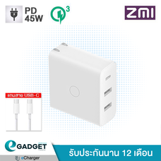 Adapter ZMI (PD45W+QC3.0) 3 Ports HA832
