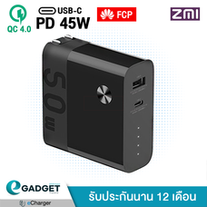 2in1 Powerbank + Adapter ZMI Fusion 6700mAh พาวเวอร์แบงค์ + หัวชาร์จ fusion power bank (PD 45W + QC4.0 +FCP ) APB03