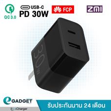 ประกัน 2 ปี หัวชาร์จเร็ว ZMI Adapter PD 30W +USB-A หัวชาร์จ รุ่น HA722