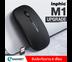 เมาส์ไร้สาย Inphic M1 (มีแบตในตัว) (ปุ่มเงียบ) (ปรับ DPI 1000-1600) (Premium Optical Light ใช้งานได้เกือบทุกสภาพผิว) (สีดำ)