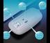 เมาส์ไร้สาย A2 Wireless (มีไฟ RGB) (แบตในตัว) (เสียงเงียบ) (มีปุ่มปรับความไวเมาส์ DPI 1000-1600) ใช้งานง่าย เพียงแค่เสียบ USB
