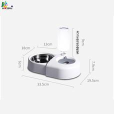 Mosianai เครื่องให้น้ำอัตโนมัติสำหรับสัตว์เลี้ยง เครื่องให้อาหารและน้ำอัตโนมัติ เครื่องให้อาหารสัตว์เสี้ยง Pet Automatic Feeder Dog Cat Drinking Bowl 550ML