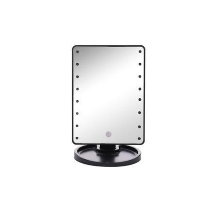 Mosinai กระจกแต่งหน้า กระจกตั้งโต๊ะ LED Makeup Mirror กระจกแต่งหน้า มีไฟ LED พร้อมถาดใส่ของ แบบสัมผัส