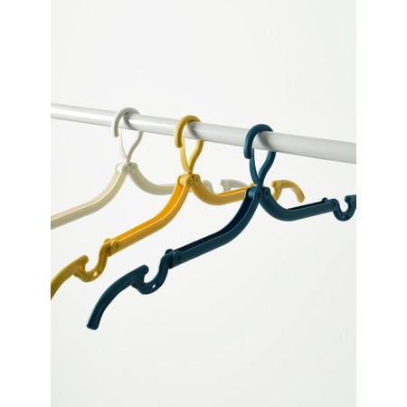 Mosinai ไม้แขวนเสื้อ 3ชิ้น แบบพกพา ไม้แขวนเสื้อพับได้ ไม้แขวนเสื้ออเนกประสงค์ ประหยัดพื้นที่ภายในตู้เสื้อผ้า รับน้ำหนักได้มาก