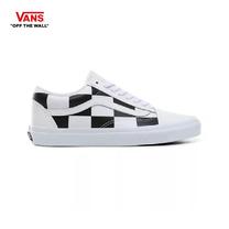 รองเท้าผ้าใบ VANS รุ่น LEATHER CHECK OLD SKOOL สี true white/black