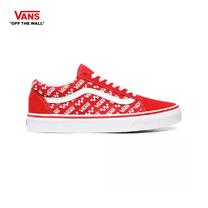 รองเท้าผ้าใบ VANS รุ่น LOGO REPEAT OLD SKOOL สี Racing Red/True White