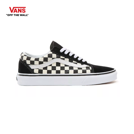 รองเท้าผ้าใบ VANS รุ่น PRIMARY CHECK OLD SKOOL สี Black/ White