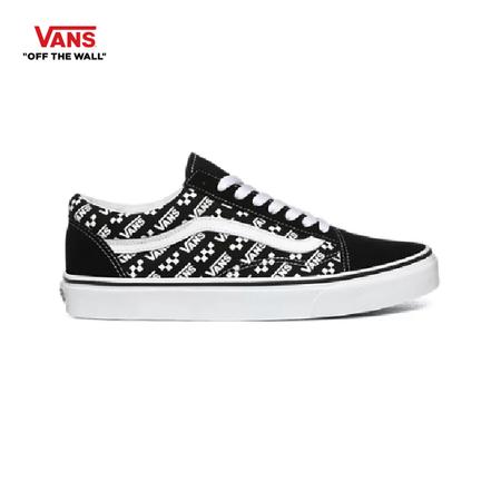 รองเท้าผ้าใบ VANS รุ่น LOGO REPEAT OLD SKOOL สี Black/True White