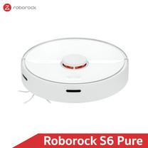 หุ่นยนต์ดูดฝุ่นถูพื้น อัจฉริยะ Roborock S6 Pure สีขาว (White Color) - Robotic Vacuum and Mop Cleaner (Global Version)