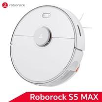 หุ่นยนต์ดูดฝุ่นถูพื้น อัจฉริยะ Roborock S5 Max สีขาว (White Color) - Robotic Vacuum and Mop Cleaner [Global Version]