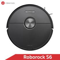 หุ่นยนต์ดูดฝุ่นถูพื้น อัจฉริยะ Roborock S6 สีดำ (Black Color) - Robotic Vacuum and Mop Cleaner [Global Version]