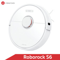 หุ่นยนต์ดูดฝุ่นถูพื้น อัจฉริยะ Roborock S6 สีขาว (White Color) - Robotic Vacuum and Mop Cleaner [Global Version]