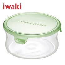 Iwaki ภาชนะแก้วบรรจุอาหารทรงกลม ขนาด 380 ml. รุ่น K7401-P - สีเขียว