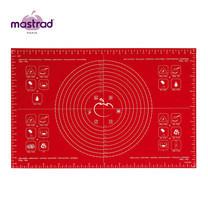 Mastrad Pastry Sheet Large แผ่นนวดแป้งพร้อมสูตร ขนาดใหญ่ - สีแดง