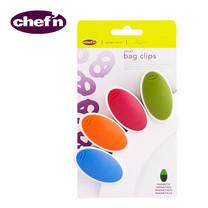 Chef'N คลิปปิดปากถุงขนาดเล็ก - สี Cherry, Arugula, Apricot, Pacific (แพ็ก 4 ชิ้น)