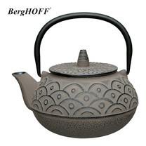 BergHOFF กาน้ำชาเหล็กหล่อ 0.75 L - สีเทา