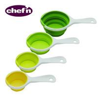Chef'N ถ้วยตวงแบบมีด้ามจับ 4 สี (Arugula, Avocado, Wasabi, Lemon)