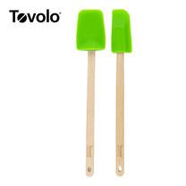 Tovolo ทัพพีด้ามไม้ 2 ชิ้น - สีเขียว