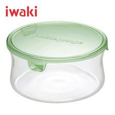 Iwaki ภาชนะแก้วบรรจุอาหารทรงกลม ขนาด 840 ml. รุ่น K7402-P - สีเขียว