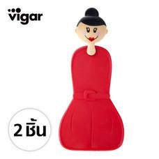 Vigar ที่จับของร้อนรูปตุ๊กตา 2 ชิ้น - สีแดง