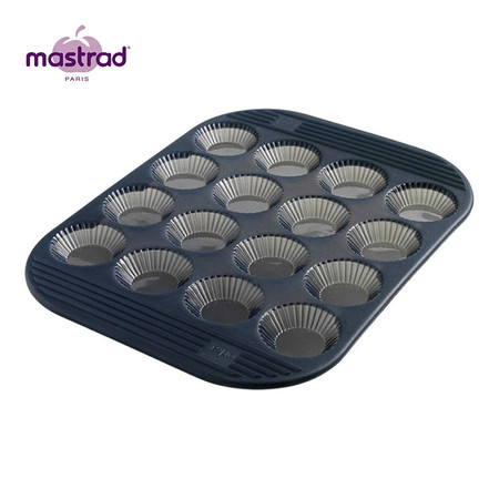 Mastrad แม่พิมพ์ทาร์ท 16 หลุม - สีเทา