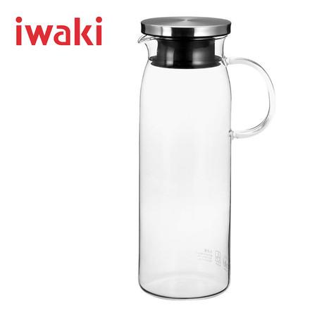 Iwaki เหยือกน้ำแก้วฝาเงิน ขนาด 1000 ml.