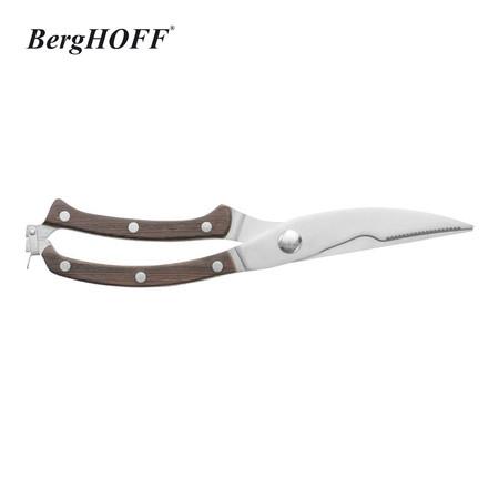 BergHOFF กรรไกรตัดไก่ด้ามไม้