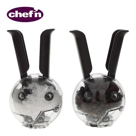 Chef'N ชุดเครื่องบดเกลือและพริกไทย รุ่น Mini Magnetic Saltball - สีดำใส