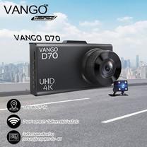 VANGO กล้องติดรถยนต์ รุ่น VANGO D70 ที่สุดของ 4K จีพีเอส และ Wifi
