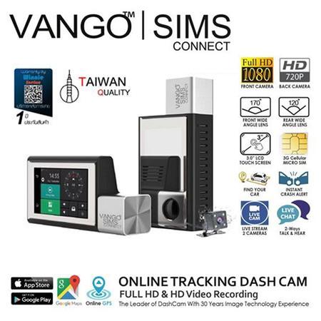 VANGO กล้องติดรถยนต์ รุ่น SIMSCONNECT กล้องอัจริยะที่เชื่อมกล้องและมือถือ ทุกที่ ทั่วโลก