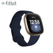 Fitbit Versa 3 สมาร์ทวอทช์สายสุขภาพ รุ่น Versa 3 สวมใส่สบาย ติดตามกิจกรรมสุขภาพ มาพร้อมระบบ GPS ในตัว รับประกันสินค้า 1 ปี