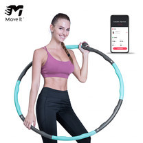 Move It Smart Hula Ring Hoops สมาร์ทฮูล่าฮูปบริหารหน้าท้องสามารถออกำลังกายตามหลักสูตรการฝึกอบรมใน app ได้ By Mac Modern