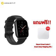 Amazfit GTS 2 Smartwatch จอแสดงผล AMOLED กันน้ำ 5ATM 11 โหมดกีฬาพร้อมการติดตามอัตราการเต้นของหัวใจ (รับประกันศูนย์ไทย 1 ปี)