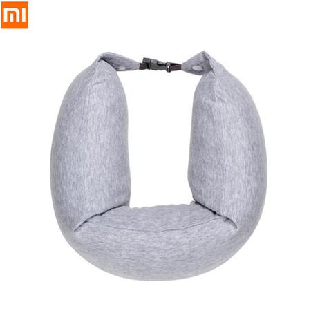 Xiaomi 8H Travel U-Shaped Multi-functional Neck Pillow หมอนรองคอ ผ้าฝ้าย ยืดหยุ่นและระบายอากาศได้ดี ยับยั้งแบคทีเรีย