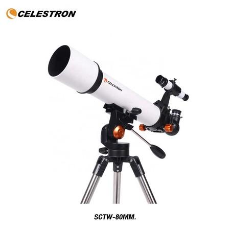 Celestron Portable 80mm High Magnification SCTW-80 กล้องโทรทรรศน์ดาราศาสตร์ตาข้างเดียวกำลังขยายสูง 80 มม. By Mac Modern