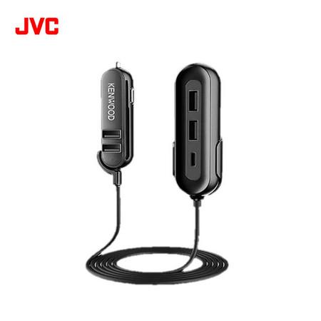 JVC Kenwood CAX-CH20 USB Car Charger output หัวชาร์จในรถเเบบ USB 5 ช่อง type-C 1 ช่องสายเคเบิ้ลยาว 1.5m รับประกันศูนย์ไทย 1 ปี
