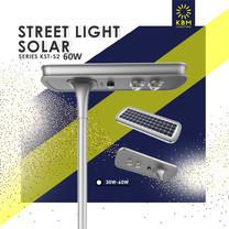 โคมไฟถนนโซล่าเซลล์ Street Light Solar 60w รุ่น KST-S2